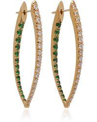 Melissa Kaye - Cristina 18k Gold, Diamond And Tsavorite Garnet Earrings - Lyst
