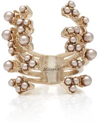 Lulu Frost - Jackie Gold-plated Faux Pearl Ring - Lyst