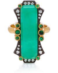 Arman Sarkisyan - 22k Gold, Chrysoprase And Diamond Ring - Lyst