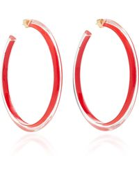 Alison Lou - Large Jelly Lucite Hoop Earrings - Lyst
