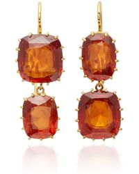 Renee Lewis - 18k Gold Garnet Earrings - Lyst