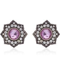 Arman Sarkisyan - Louiza 22k Oxidized Pink Sapphire Earrings - Lyst