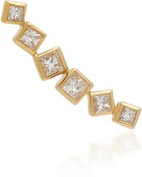 Octavia Elizabeth - Ivy Gold And Diamond Ear Climber - Lyst