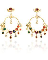 Sanjay Kasliwal - 22k Gold Navratna Earrings - Lyst