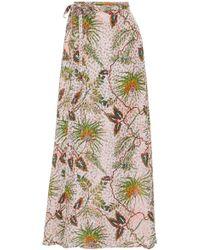 Adriana Iglesias - Bay Printed Silk-blend Midi Skirt - Lyst