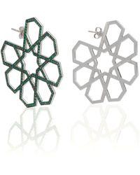 Ralph Masri - M'o Exclusive Arabesque Emerald Earrings - Lyst