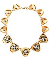 Nicole Romano - Gold-plated Swarovski Crystal Necklace - Lyst