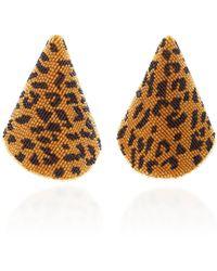 Rebecca de Ravenel - Aida Beaded Gold-tone Clip Earrings - Lyst