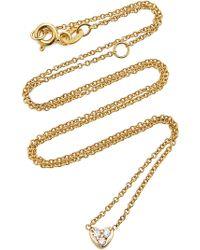 SHAY - Baby Tri-diamond Heart Necklace - Lyst