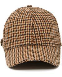 Officine Generale - Houndstooth Wool Baseball Cap - Lyst