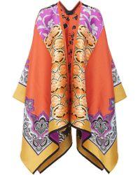 Etro - Mantella Jacquard Wool-blend Cape - Lyst