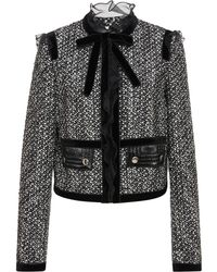 Giambattista Valli - Ruffled Bow-detailed Tweed Jacket - Lyst