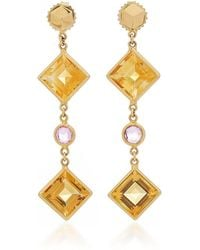 Paolo Costagli - Citrine And Pink Sapphire Florentine Earrings - Lyst