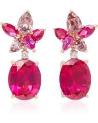 Anabela Chan - M'o Exclusive Ruby Lily Earrings - Lyst