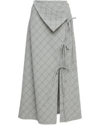 Prabal Gurung - Naru Tie Front Plaid Skirt - Lyst