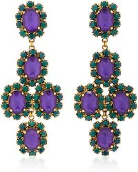 Erickson Beamon - Funhouse 24k Gold-plated Crystal Earrings - Lyst