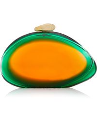 Benedetta Bruzziches - Green And Mandarin Ariel Clutch - Lyst