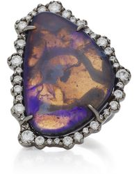 Kimberly Mcdonald - Rhodium-plated 18k White Gold, Opal And Diamond Ring - Lyst