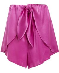 Nanushka - Naila Satin Mini Shorts - Lyst