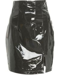 Zeynep Arcay - Patent Leather Skirt - Lyst