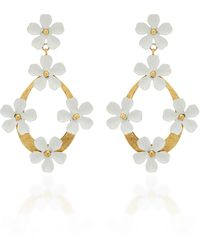 Jennifer Behr - Martinella Gold-tone Hoop Earrings - Lyst