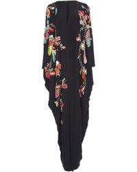 Reem Acra | Embroidered Silk Kaftan | Lyst
