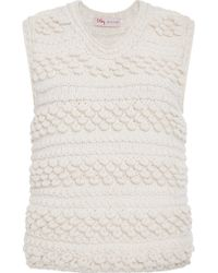 Orley - Sleeveless Scallop Stitched Hand Knit Top - Lyst
