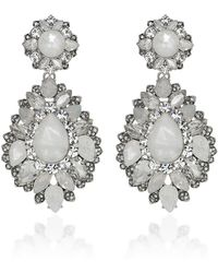 Marchesa - Casa Blanca Drop Earrings - Lyst