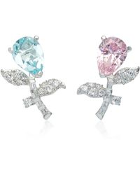 Anabela Chan - M'o Exclusive Rose Blue Tulip Earrings - Lyst
