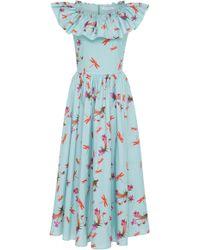 Vivetta - Menkent Ruffled Cotton Midi Dress - Lyst