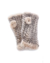 Pologeorgis - The Short Mink Two Toned Fingerless Gloves - Lyst