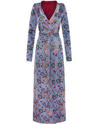 Adriana Iglesias - Beverly Silk Satin Reversible Robe - Lyst