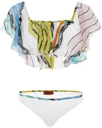 Missoni | Off The Shoulder Ruffle Bikini Set | Lyst