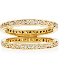 Joanna Laura Constantine   Gold-plated Crisscross Ring   Lyst
