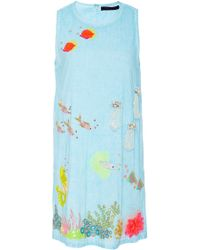 Manish Arora - Life Aquatic Embroidered Shift Dress - Lyst