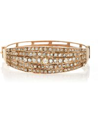 Renee Lewis - Antique Fancy Cut Diamond Bracelet - Lyst
