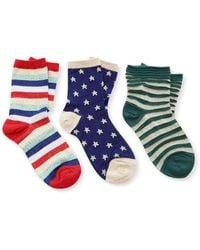 Liana - M'o Exclusive Set Of Three Socks - Lyst