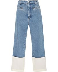 Loewe - Fisherman Stonewashed Cuffed Jeans - Lyst