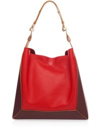 Marni - Frame Colorblocked Leather Tote - Lyst