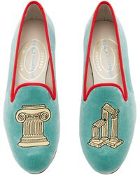 Stubbs & Wootton - M'o Exclusive: Vitruvious Jade Loafer - Lyst