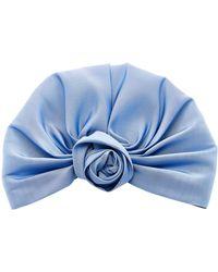 Jennifer Behr - Rosette Silk-satin Headwrap - Lyst