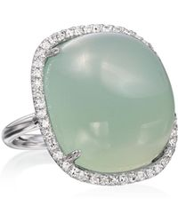 Nina Runsdorf - M'o Exclusive: Green Chalcedony Cushion Ring - Lyst