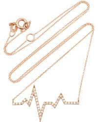 Diane Kordas - Diamond Heartbeat Necklace - Lyst