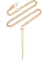 Melissa Kaye - 18k Gold Diamond Necklace - Lyst
