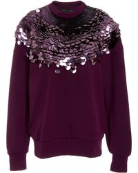 Sally Lapointe - M'o Exclusive Embellished Luxe Jersey Sweatshirt - Lyst