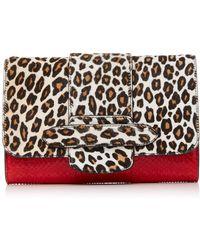 Michino Paris - Leopard Phedra Pm Clutch - Lyst