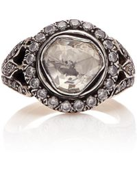Sanjay Kasliwal - 14k Gold, Silver And Diamond Ring - Lyst