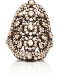 Sutra - 18k White Gold Diamond Ring - Lyst