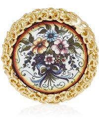 Rosantica - Ciucciue Gold-tone Brass And Ceramic Brooch - Lyst