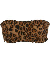 Karla Colletto - Lanai Reversible Leopard-print Bandeau Bikini Top - Lyst